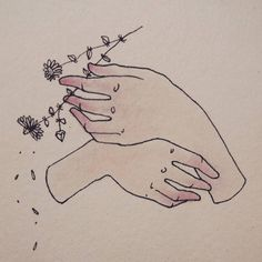 ��� Idle hands  #morrissey #moz #hands #flower #daisy #illustration #drawin