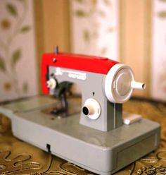 Vintage Soviet Toy Sewing Machine with Original Box  by cherryshop, $49.00