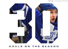 Twitter / Toronto Maple Leafs: Congrats to @ JVReemer21 on his first NHL 30-goal season.