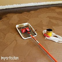 If you are in need of new flooring but don't have much money to spend…   Use paper bags!