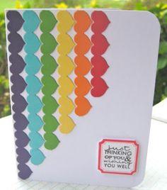 Tarjeta corazones de colores