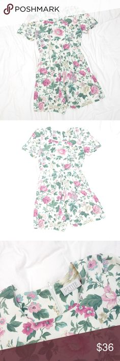 Vintage Dainty Floral Romper Jumpsuit Playsuit Vintage, Petite Sophisticated brand.  This floral print is to die for! It's GORGEOUS and the colors are wonderful!  No size tag, but fits like a size S.  No stains/damage/holes/etc. Very good condition. Vintage Pants Jumpsuits & Rompers