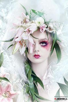 Maquillaje de fantasía / Make Up Fantasy       Me encantan los maquillajes fantasía, son una manifestación artística como lo es un cuadro...