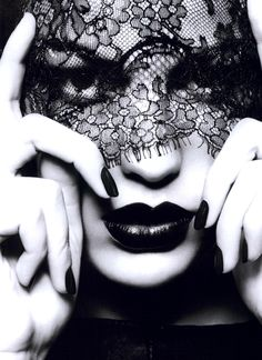 Model: Cameron Russell  Photo by Ben Hassett  #Lace #Contrast #BW