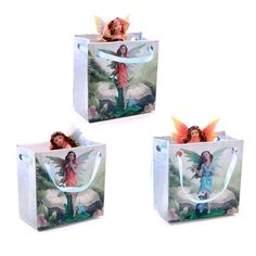 Cute Mini Flower Fairy Figurine in a Gift Bag If you like fantasy gifts and collectables then check out our fairy and unicorn range With the designs Fantasy Gifts, Nature Spirits, Fairy Figurines, Garden Decor Items, Gadget Gifts, Display Boxes, Wedding Favours, Jewelry Art, Decoupage