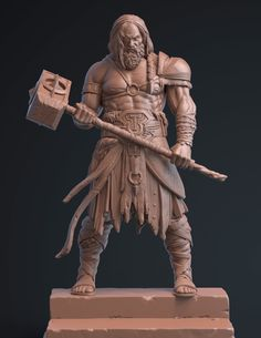 [image] Title: Odin Name: Ali Jalali Country: Iran Software: ZBrush keyshot Submitted: September 2016 A project i did for company . Character Concept, Character Art, Concept Art, Fantasy Warrior, Fantasy Art, Art Viking, Statues, Arte Alien, Art Sculpture