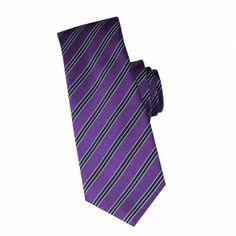 Cravate en soie prune à rayures marine #cravate http://www.cafecoton.fr/cravate-soie-homme/10901-cravate-en-soie-prune-a-rayures-marine.html