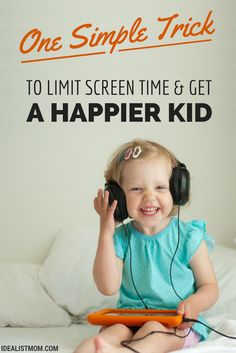 Do your kids spend too much time on video games, tablets, and other high-tech devices? Here's ONE simple parenting trick to limit screen time. The best part? This will give you a happier kid, too!
