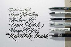 Pinceles de lettering