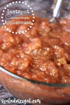 So sweet and so easy! Instapot Cinnamon Applesauce Recipe