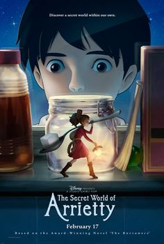The Secret World of Arrietty. YES, YES, YES another Japanese Anime from Studio Ghibli. another film by Hayao Miyazaki. Secret World Of Arrietty, The Secret World, Secret Life, Bon Film, Film D'animation, Movie Film, Movie 20, Movie Theater, Totoro