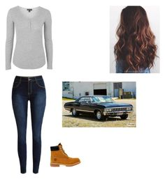 """""""Runaway outfit 2"""" by jessika-archie ❤ liked on Polyvore featuring Topshop and Timberland"""