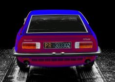 Maserati Indy in black & blue-red mix, rear view