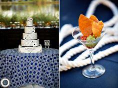 navy nautical cake Ally & Tyler   Carillon Wedding® » Rae Leytham Photography