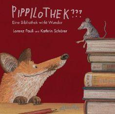 Die Maus genießt die Abendruhe, als sie von einem Geräusch und dem Geruch nach Fuchs gestört wird. Sie flüchtet sich in eine Bibliothek – der Fuchs bleibt ihr auf den Fersen. Doch die Maus ist clever und erklärt ihm, dass sie sich in einer Bibliothek und nicht in einem Jagdgebiet befinden. Und Bücher sind prima geeignet, um den Fuchs auf andere Gedanken zu bringen... Witzige Hymne an die spannende Welt zwischen den Buchdeckeln! Lorenz Pauli / Kathrin Schärer, Pippilothek??? atlantis Verlag…