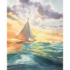 #mulpix Um  #lindo  #veleiro na  #aquarela de @eva_vla  A  #beautiful  #watercolor  #sailboat by  #evavla   #mar  #ceu  #pordosol  #desenho  #pintura  #ocean  #sky  #sunset  #drawing  #painting  #tumblr  #tumblrbrasil  #blog  #julianapsicologa  #arte  #art  #personalidarte  #fotografia