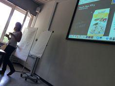 1. BarCamp und gleich eine Session gehalten. Unsere #SpontanLisa!