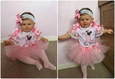 Lace & Diamante Pink 1st Birthday Tutu Outfit LR Designs Tutu Boutique March 2015
