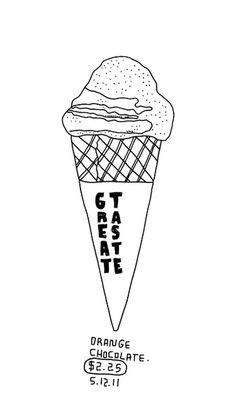 05.12.11 / Orange Chocolate Cone | Flickr – Condivisione di foto! Ice Cream Illustration, Pen Illustration, Illustrations, Chocolate Cone, Chocolate Orange, Food Art, Parlour, Happiness, Draw