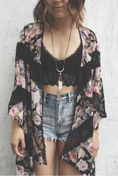 Cute Teen Outfits, Cute Summer Outfits, Edgy Outfits, Spring Outfits, Cool Outfits, Cute Fashion, Boho Fashion, Girl Fashion, Fashion Looks