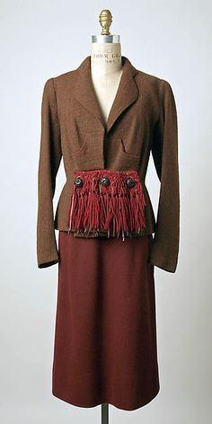 Jacket (image 1)   House of Schiaparelli   French   fall 1938   wool   Metropolitan Museum of Art   Accession Number: 1974.338.8