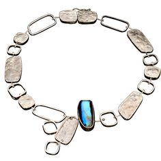 Boulder Opal assymetric necklace by Lori Meg Designs | $999.00, One of a kind necklace made of silver, with a gorgeous boulder opal.