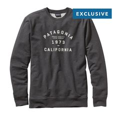 Sweat it out collegiate style in this new Patagonia Men s Arched Collegiate  Logo Midweight Crew Sweatshirt 7aaadd6a0
