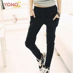 New Fashion Women Pants Spring Pencil Pants Slim Fit Trousers Casual Pantalon Femme Harem Pants Plus Size Korea Style