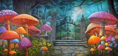 Wonderland Gate - B Professional Scenic Backdrop