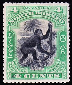 1900 first stamp depicting a primate