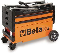 Beta Tools Folding tool trolley for outdoor jobs – AI Workwear Garage Tool Storage, Garage Shelving, Workshop Storage, Garage Tools, Mobile Tool Box, Rolling Tool Box, Outdoor Jobs, Tool Cart, Shoe Holders