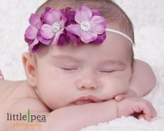 Cute bubba with gorgeous fabric flower headband