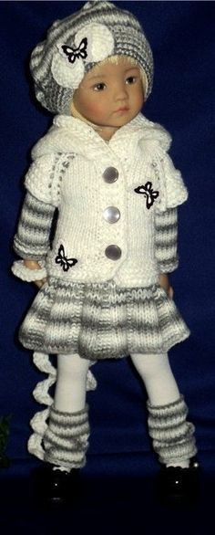 American Doll Clothes, Ag Doll Clothes, Crochet Doll Clothes, Knitted Dolls, Doll Clothes Patterns, Crochet Dolls, Clothes Crafts, Crochet Baby, Child Doll