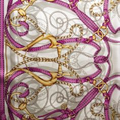 Intricate prints, beautiful colors. Gucci silk scarf