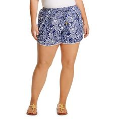 Lilly Pulitzer for Target Plus Size Challis Pompom Shorts