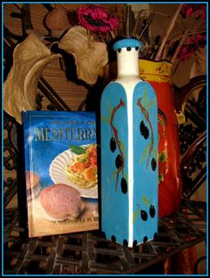 Olive Oil Bottle / Dispenser for Easter by BajaGypsy on Etsy