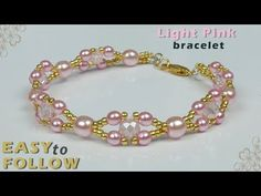 For this project you need: 6 mm round beads, 4 mm round beads, mm rondelles or seed beads, 2 needles clasp Beaded Bracelets Tutorial, Diy Bracelets Easy, Beaded Bracelet Patterns, Handmade Bracelets, Handmade Jewelry, Earrings Handmade, Bead Jewellery, Jewelry Making Beads, Fine Jewelry