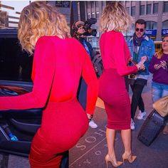 Maroon, red, nude. Kardashian in Costa Rica.