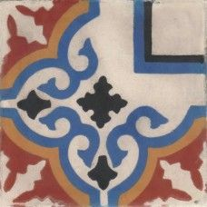 Moroccan Encaustic Cement Pattern Tile 102c | £ 2.64 | Moroccan Encaustic Cement Pattern Tiles | Best Tile UK | Moroccan Tiles | Cement Tiles | Encaustic Tiles | Metro Subway Tiles | Terracotta Tiles | Victorian Tiles