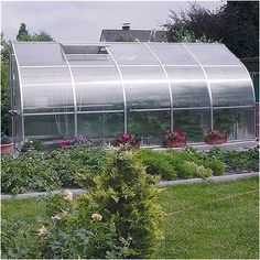 "Hoklartherm RIGA V 9'8"" W x 17'6"" L x 7'7"" H Polycarbonate Commercial Greenhouse"