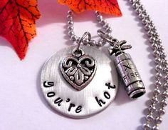 Personalized Jewelry Hand Stamped Jewelry You're by CharmAccents,