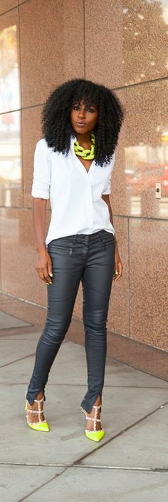 Classic White Button-Up + Moto Jeans -   Style Pantry