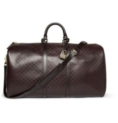 GucciTextured-Leather Holdall|MR PORTER