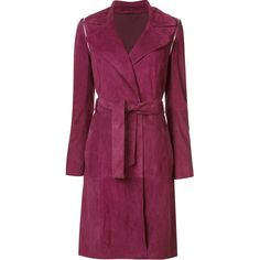 Zac Zac Posen 'Gretchen' coat found on Polyvore featuring outerwear, coats, jackets, red, purple coat, zac zac posen and red coat