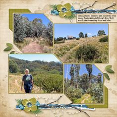 Layout created by Felicity Farnsworth #LeaFranceDigital #3DCubes #travelscrapbooking #Aussiebush #Australia