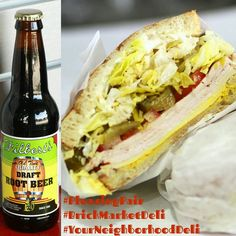 Pair our yummy Turkey & Cheese Sandwich with a bottle of Filbert's Old Time Root Beer 😋 #BrickMarketDeli #YourNeighborhoodDeli #Pomona #YummySandwiches #Turkey #Sandwich #Filberts #filbertsoldtimerootbeer #RootBeer #mondaymotivation #motivationmonday #MCM #MealCrushMonday