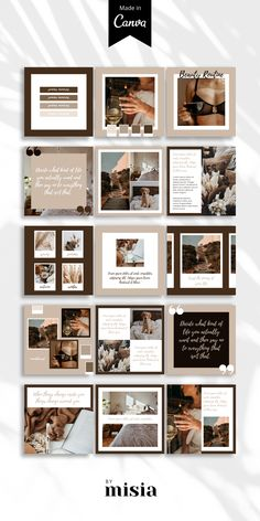 Instagram Feed Layout, Instagram Bio, Feeds Instagram, Instagram Post Template, Instagram Design, Presentation Layout, Design Graphique, Social Media Design, Layout Design