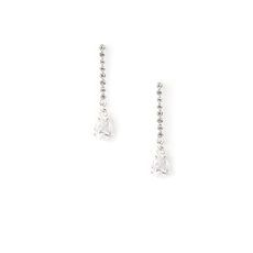 Rock your prom with these crystal and rhinestone linear drop earrings, available at claires.com