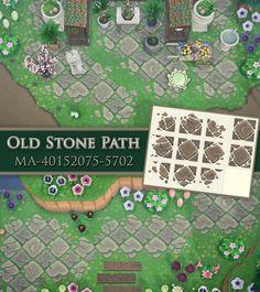 Motifs Animal, Stone Path, Bamboo Decking, Animal Crossing Game, Path Design, Floor Design, Design Ideas, Animal Games, Sidewalk Chalk
