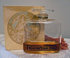 SALE - Very Vintage Caron N'aimez que moi bottle and box with remaining perfume